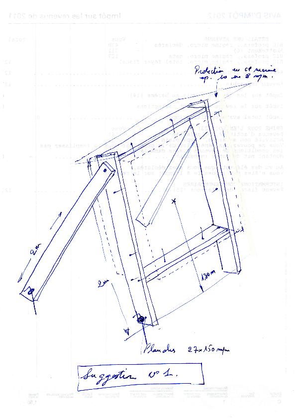 Schéma de montage du cadre pour butte fawofield