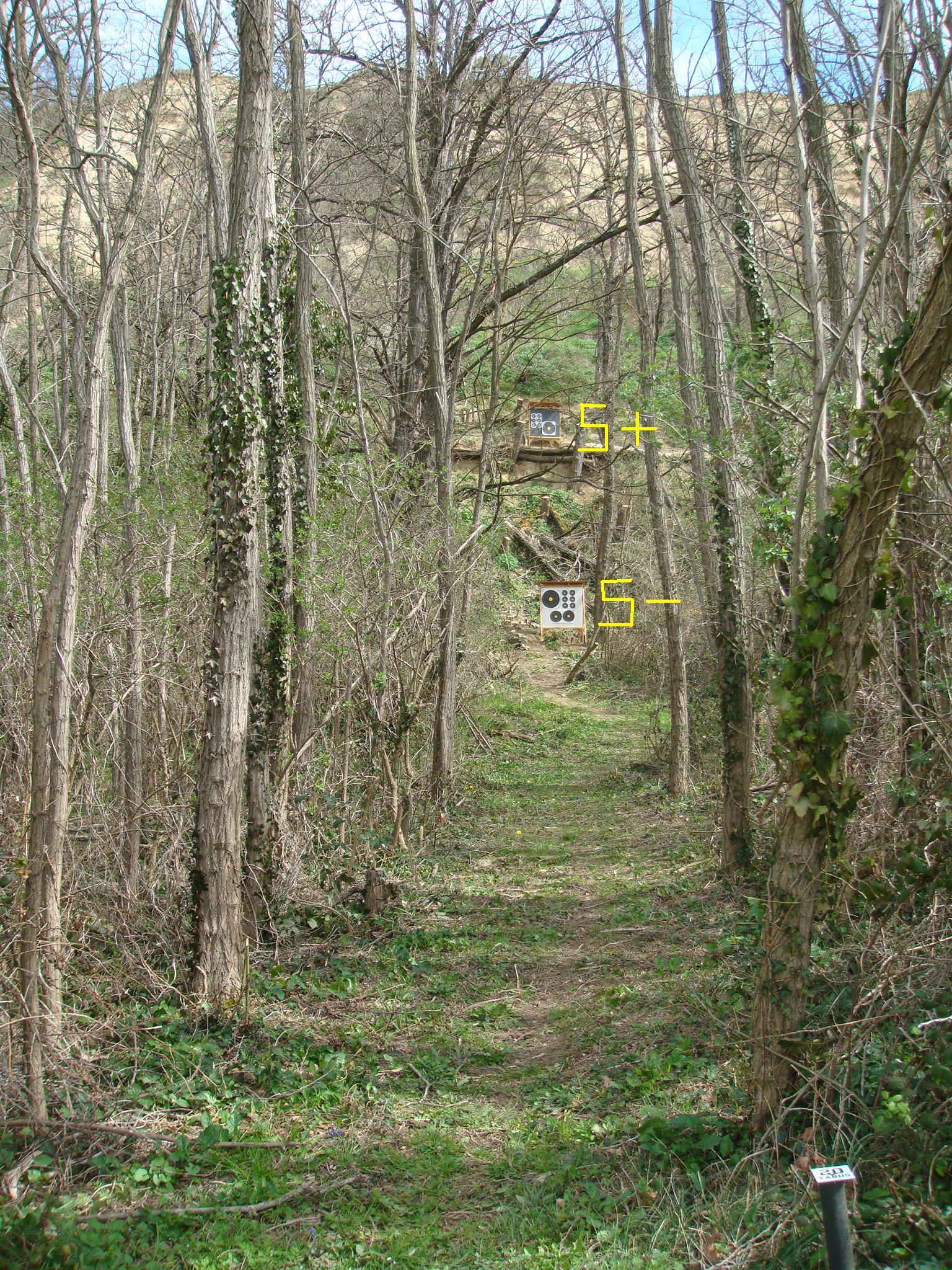 Couloir d'entrée de l'axe de tir 5
